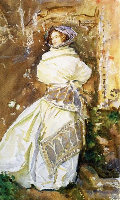 The Cashmere Shawl. John Singer Sargent