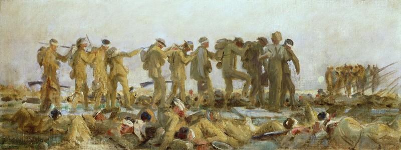 Gassed (Oil Study). John Singer Sargent