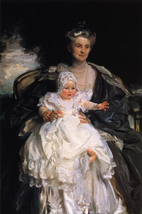 Mrs. Henry Phipps and Her Granson Winston. John Singer Sargent