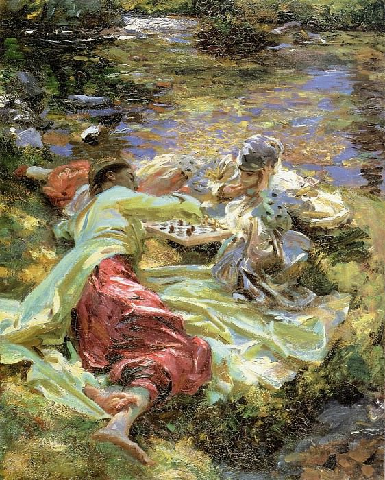 The Chess Game. John Singer Sargent
