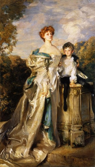 The Countess of Warwick and Her Son. John Singer Sargent