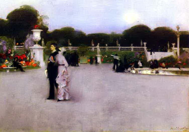 The Luxembourg Garden at Twilight. John Singer Sargent