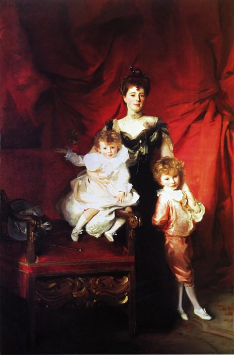 Mrs. Cazalet and Children, Edward and Victor. John Singer Sargent