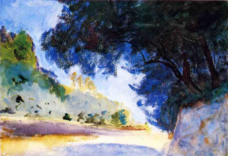 Landscape, Olive Trees, Corfu. John Singer Sargent