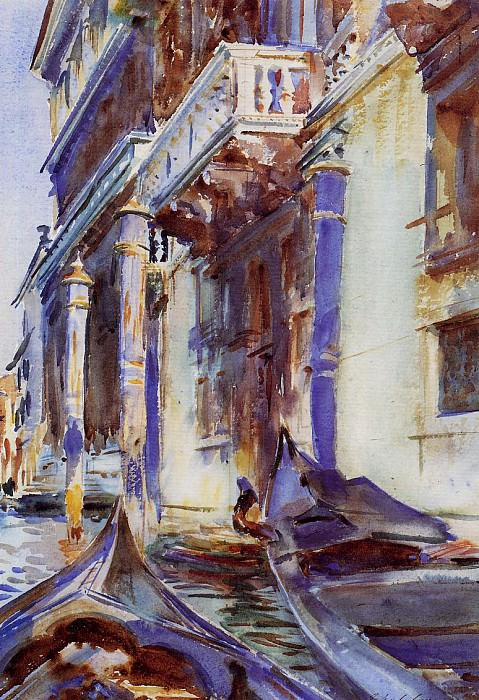 On the Grand Canal. John Singer Sargent