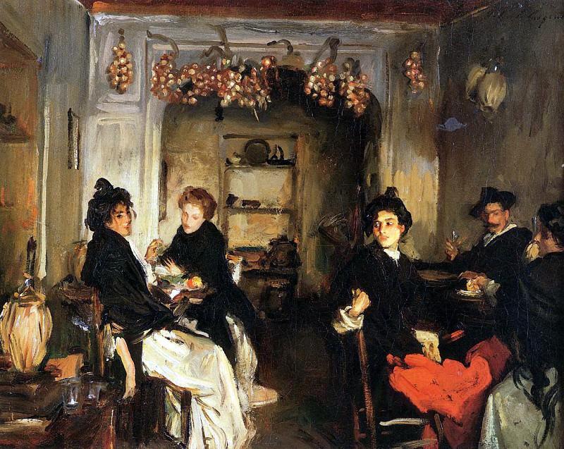Venetian Wineshop. John Singer Sargent