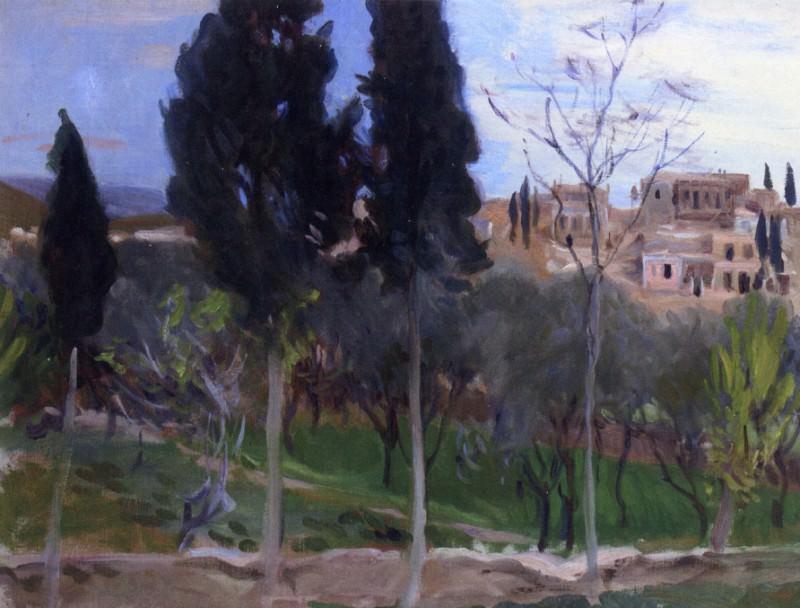 Mediterranean Landscape. John Singer Sargent