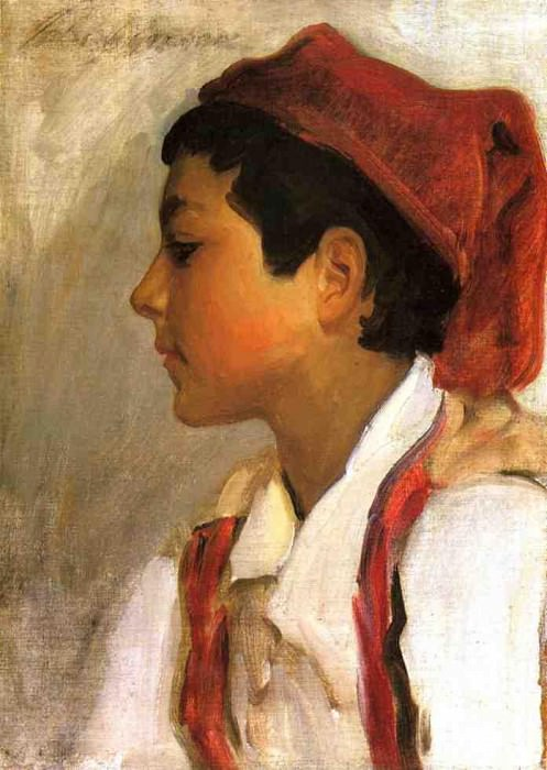Head of a Neapolitan Boy in Profile. John Singer Sargent