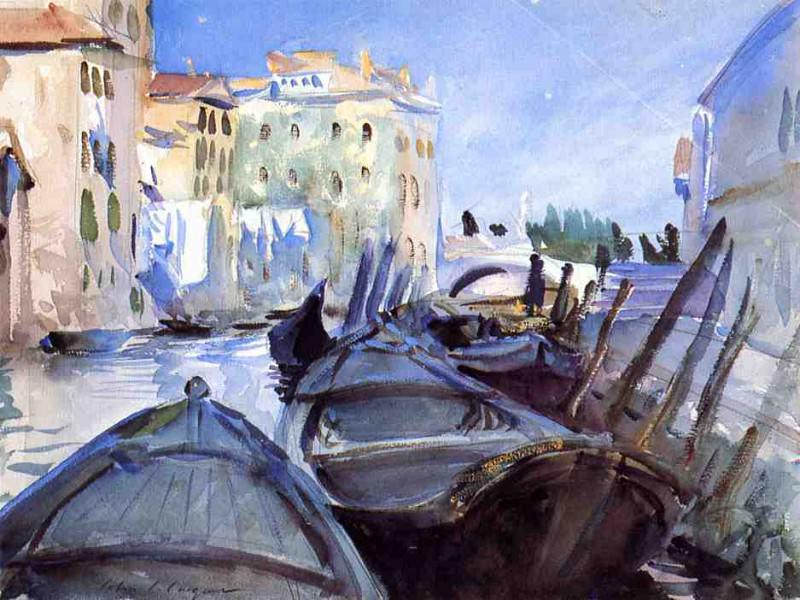 Venetian Canal Scene. John Singer Sargent