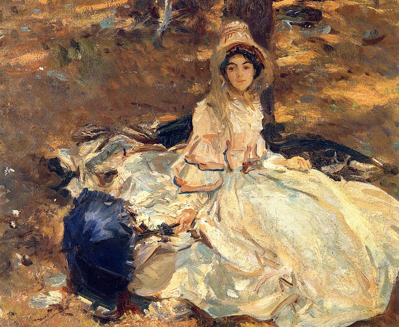 The Pink Dress. John Singer Sargent
