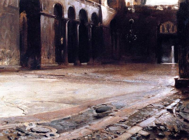 Pavement of St. Marks. John Singer Sargent