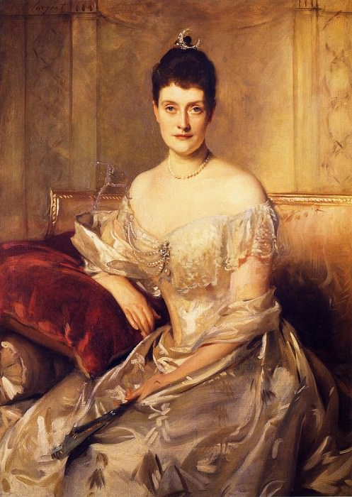 Mrs. Mahlon Day Sands (Mary Hartpeace). John Singer Sargent