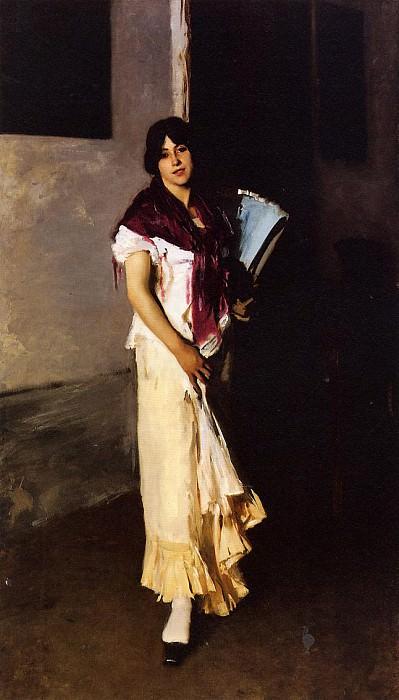 Italian Girl with Fan. John Singer Sargent