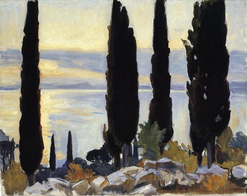 Cypress Trees at San Vigilio. John Singer Sargent