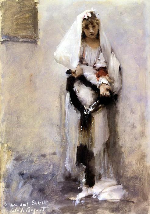 A Parisian Beggar Girl(also known as Spanish Beggar Girl). John Singer Sargent