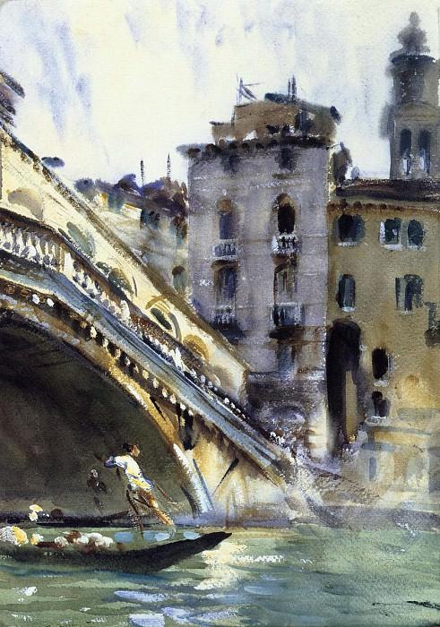 The Rialto. Venice. John Singer Sargent