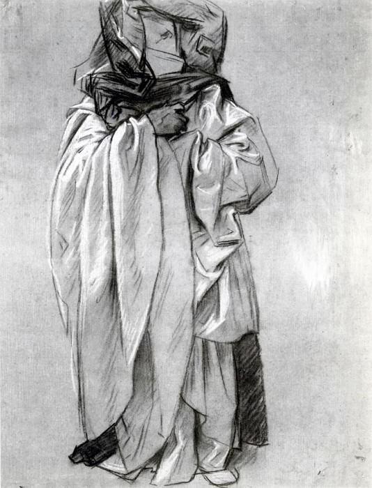Study of Ezekiel for Frieze of the Prophets. John Singer Sargent