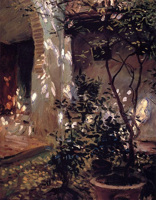 Granada. Sunspots. John Singer Sargent