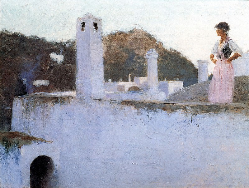 View of Capri. John Singer Sargent
