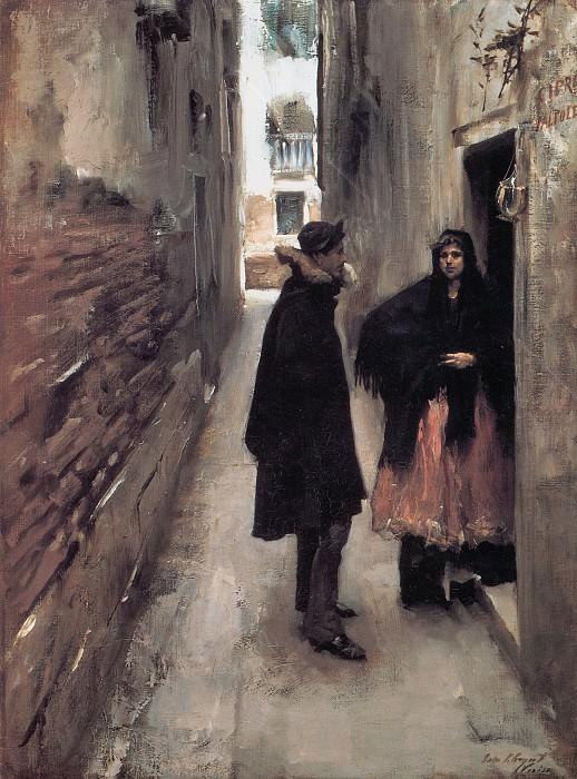 Street in Venice. John Singer Sargent