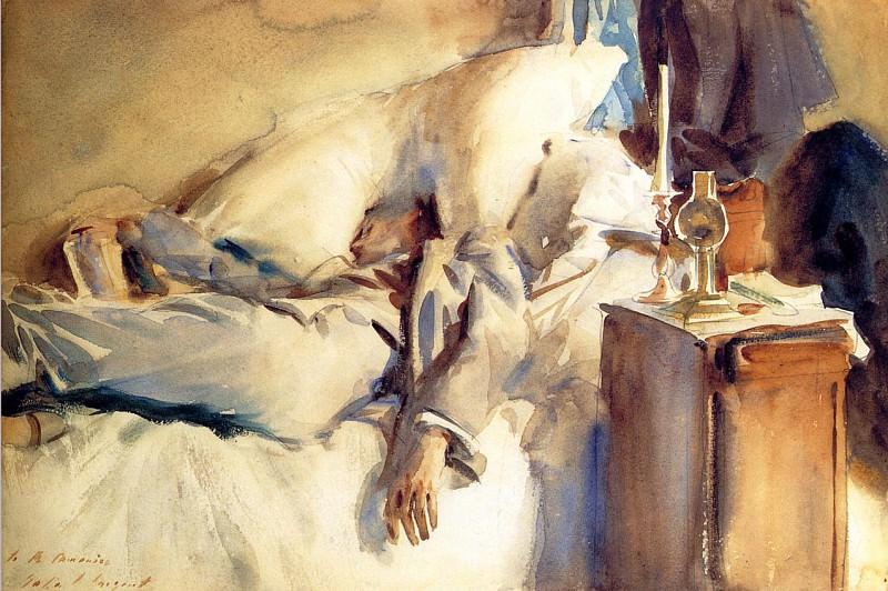 Peter Harrison Asleep. John Singer Sargent