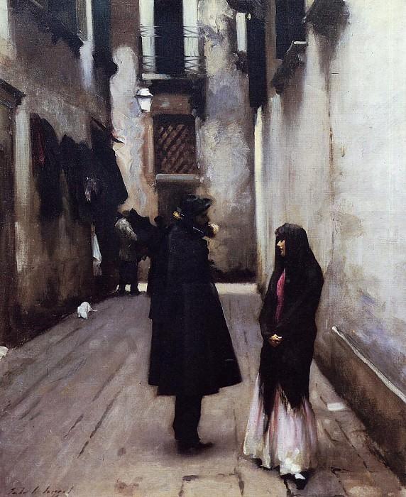 Venetian Street. John Singer Sargent