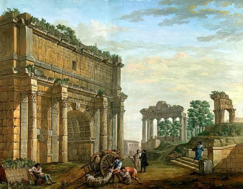 Klerisso, Charles-Louis - Arch of Septimius Severus in Rome. Hermitage ~ part 06
