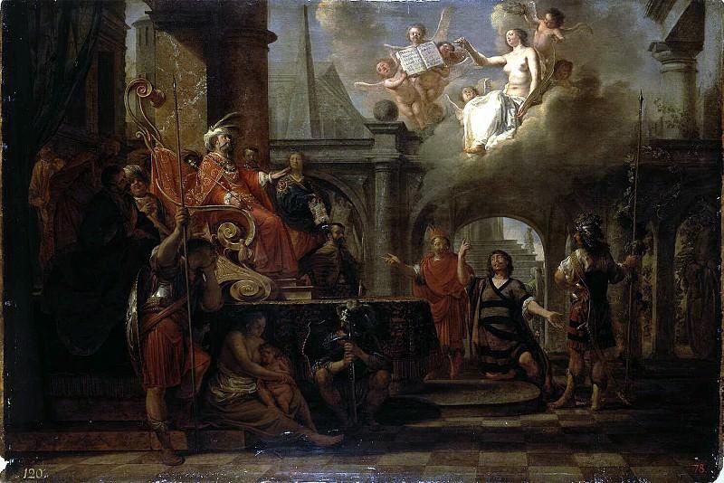 Knyupfer, Nikolaus - Zerubbabel before Darius. Hermitage ~ part 06