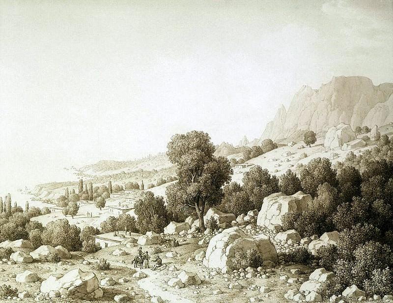 Кюгельген, Карл фон - Вид долины близ деревни Мшатка. Эрмитаж ~ часть 6