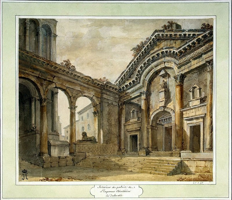 Klerisso, Charles-Louis - The lobby of the palace of Emperor Diocletian in Split. Hermitage ~ part 06