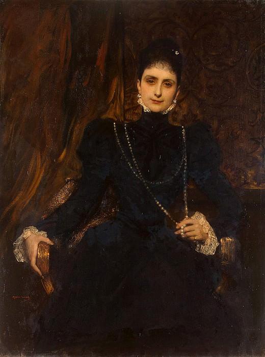 Constant, Jean Joseph Benjamin - Portrait of Marina S. Derviz. Hermitage ~ part 06