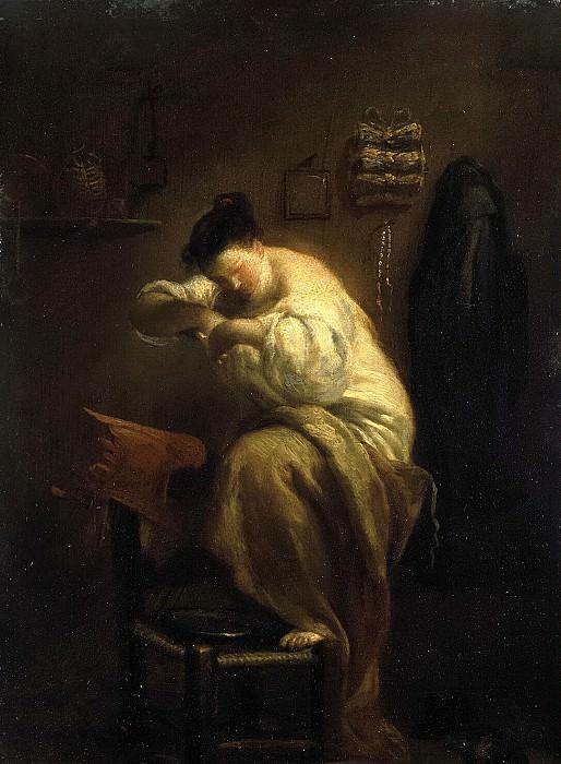 Crespi, Giuseppe Maria - A woman searching flea. Hermitage ~ part 06