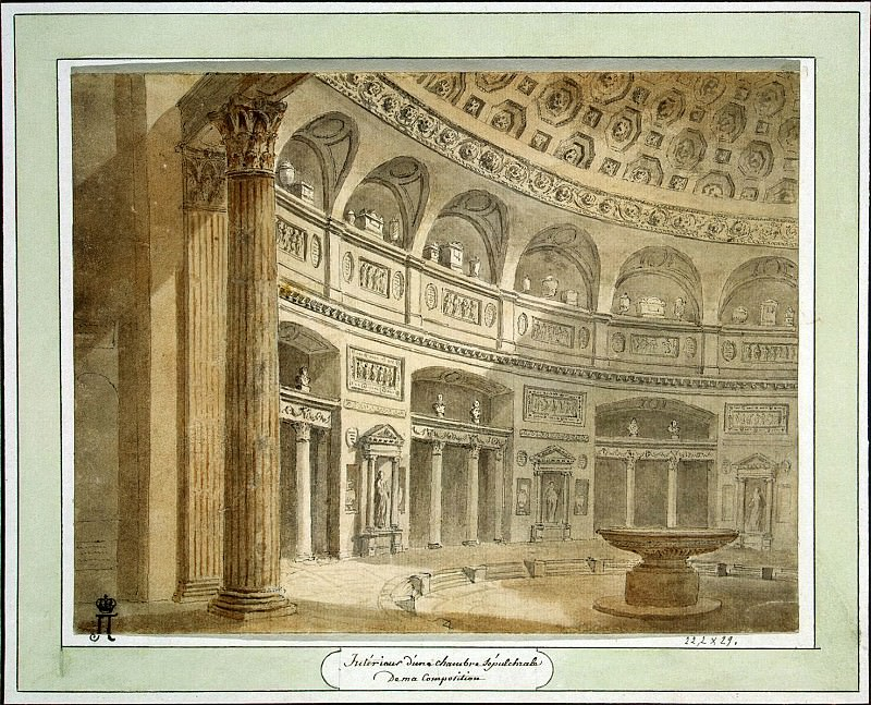 Klerisso, Charles-Louis - Interior of the funeral hall. Hermitage ~ part 06