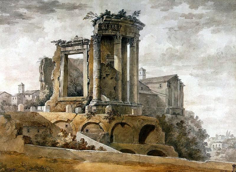 Klerisso, Charles-Louis - Temple of Sibyl in Tivoli (2). Hermitage ~ part 06