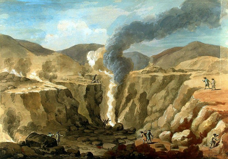 Klerisso, Charles-Louis - View of the crater of the volcano Vesuvius. Hermitage ~ part 06