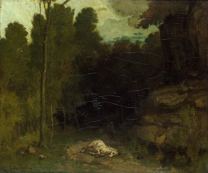 Courbet Gustave - Landscape with dead horse. Hermitage ~ part 06