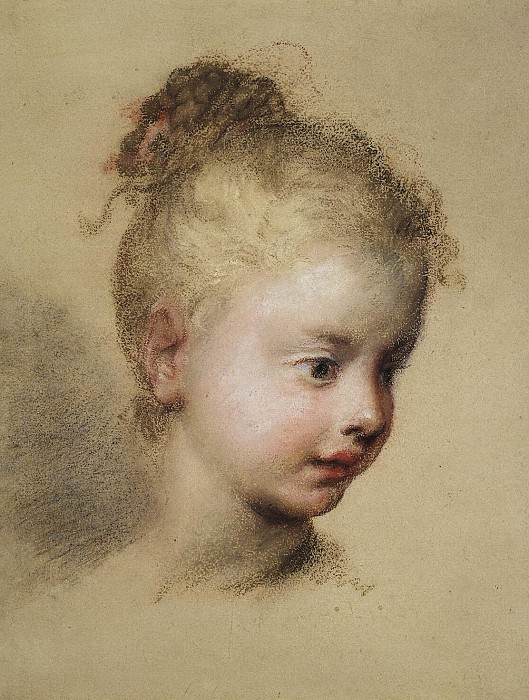 Carriera, Rosalba - Childrens head in profile. Hermitage ~ part 06