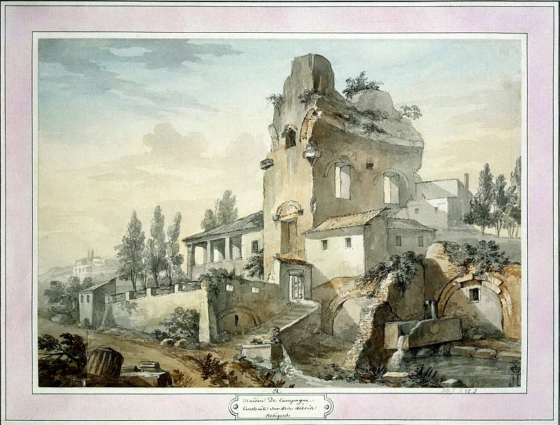 Klerisso, Charles-Louis - A country house in ancient ruins, and. Hermitage ~ part 06