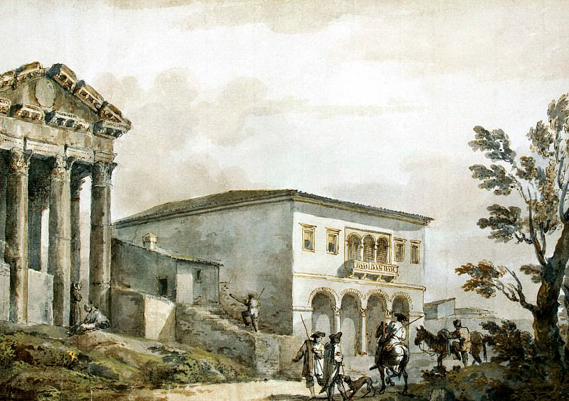 Klerisso, Charles-Louis - Temple of Augustus in the field. Hermitage ~ part 06