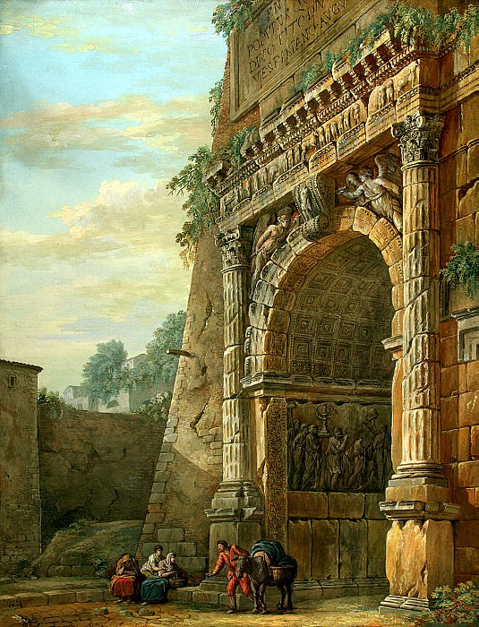 Klerisso, Charles-Louis - Triumphal Arch of Titus in Rome. Hermitage ~ part 06