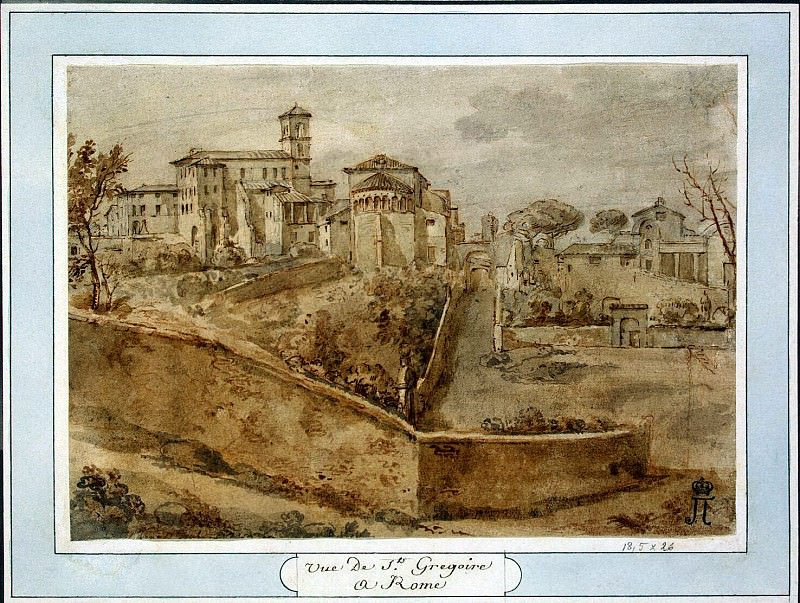 Klerisso, Charles-Louis - View of the Church of San Giovanni e Paolo in Rome. Hermitage ~ part 06