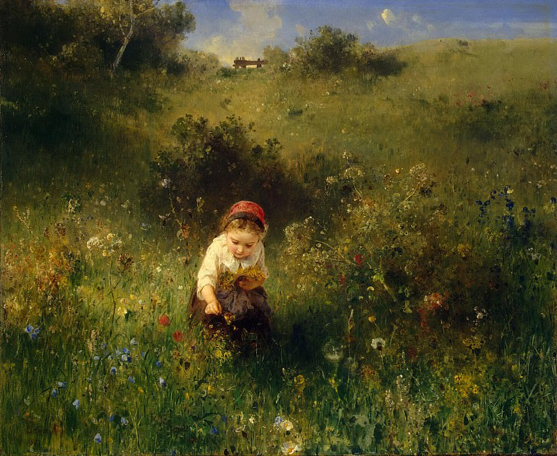 Knaus Ludwig - A girl in a field. Hermitage ~ part 06