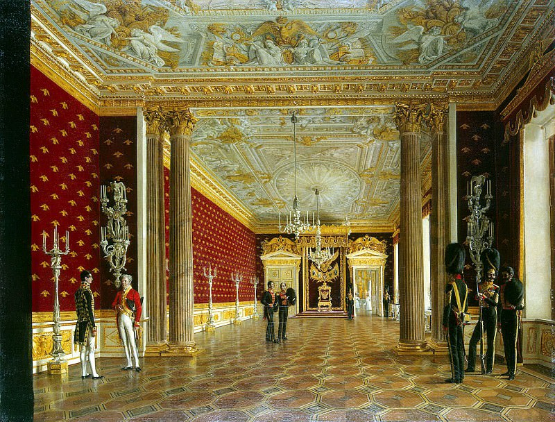 Krendovsky, F. Eugraph - Types of rooms of the Winter Palace. The Throne Room of Empress Maria Feodorovna. Hermitage ~ part 06
