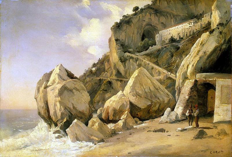 Коро, Жан-Батист Камиль - Скалы в Амальфи. Эрмитаж ~ часть 6