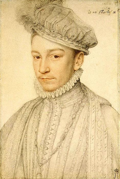 Clouet, Francois - Portrait of Charles IX. Hermitage ~ part 06