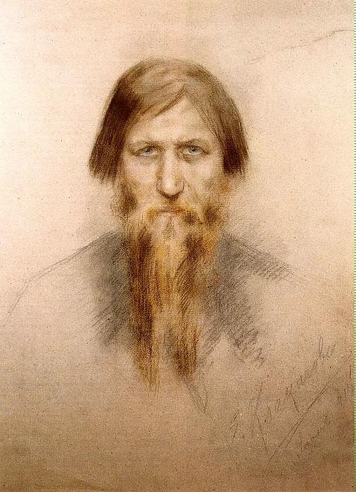 Klokacheva, Elena Nikandrovna - Portrait of Grigory Yefimovich Rasputin. Hermitage ~ part 06