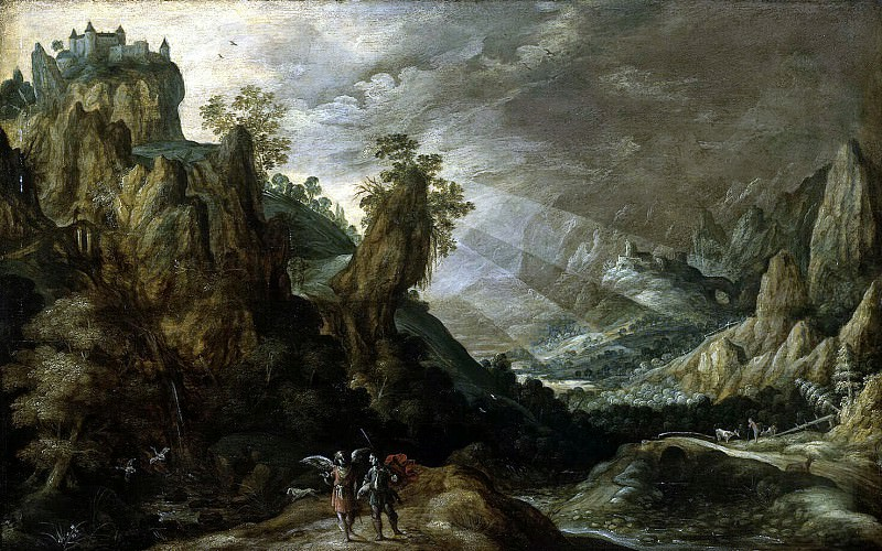 Keynink, Kerstian de - Landscape with Tobias and the Angel. Hermitage ~ part 06