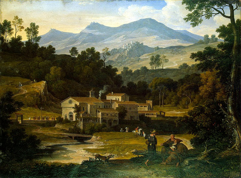Koch, Joseph Anton von - Monastery of San Francesco di Civitella in the Sabine mountains. Hermitage ~ part 06