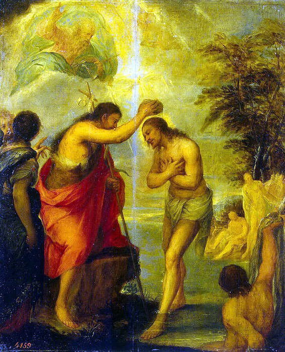 Carreño de Miranda Juan - Baptism of Christ. Hermitage ~ part 06