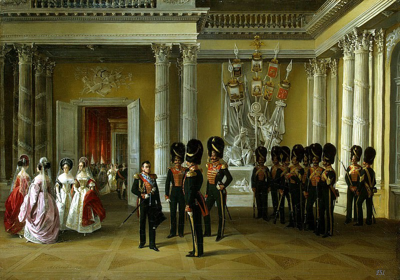Ladyurner Adolf Ignatevich - Types of rooms of the Winter Palace. Part of White Hall. Hermitage ~ part 06